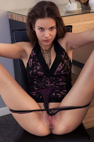 Petite Tirata is eager to show you her sexy attributes