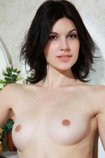 Perky and seductive Elizabet steps in the nude