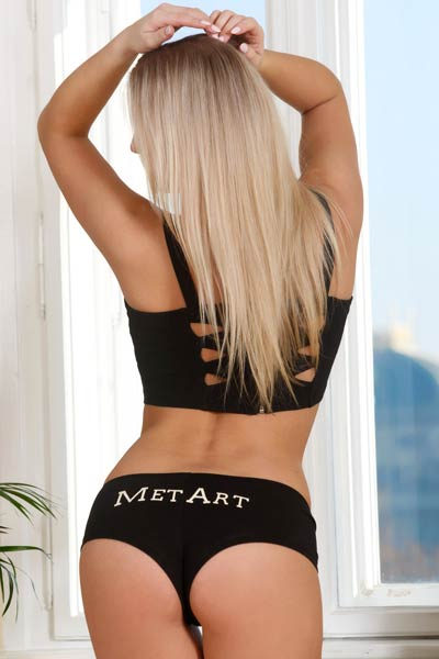 Hot and sensual striptease by a fantastic blonde beauty