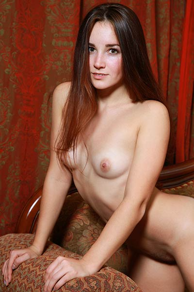 Very beautiful babe unveils her naked body after striping her sexy white lingerie