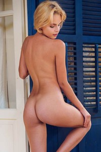 Lilit A fantastic blonde strips off her lingerie on the terrace