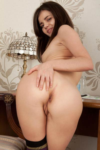 Naughty girl slowly removes all her clothing so you can have a perfect look at her body