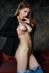 Super babe with divine body and amazing big tits strips naked