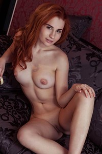 Redhead cutie Nicole La Cray is not shy to show us her perfectly shaped pale body