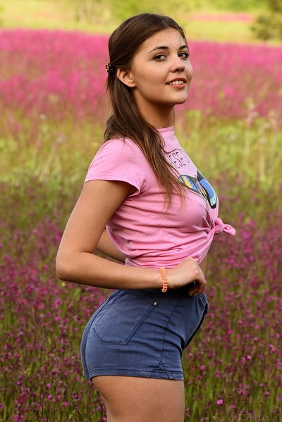 Monika Dee in Floral Escape from Met Art