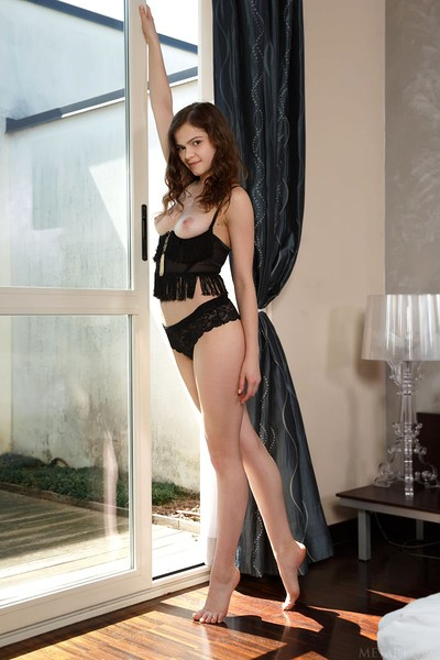 Kitri in Bed Stretch from Met Art