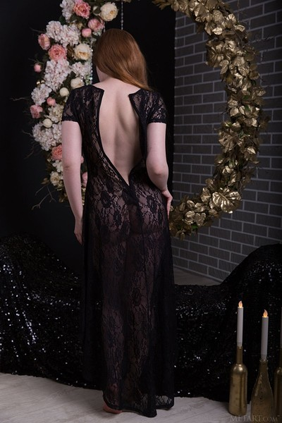 Anicka in Black and Gold from Met Art
