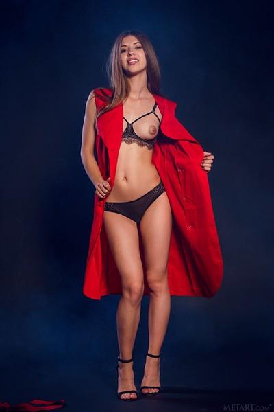 Avery in Sexy Striptease from Met Art