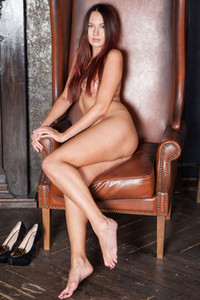 Fantastic brunette Valeri An takes off her clothes to show you her body on fire