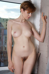 Skinny ginger Lilu Rose sets her amazing skinny body on fire with sensual naked posing