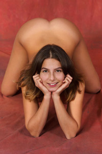 Outstanding young brunette Belka dazzles us with her perfect tanned body