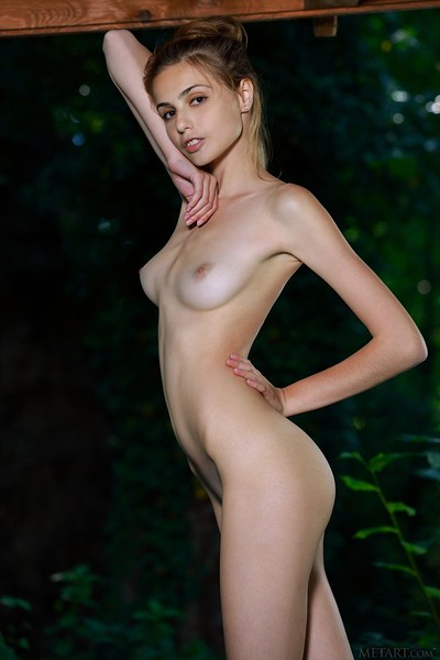 Elle Tan in Outdoor Lace from Met Art