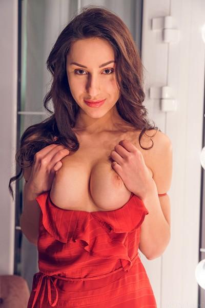 Angelina Socho in Undressing Room from Met Art