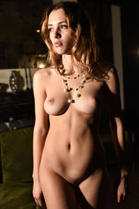 Incredibly beautiful girl Maxa she strips her clothes and shows off her fantastic body