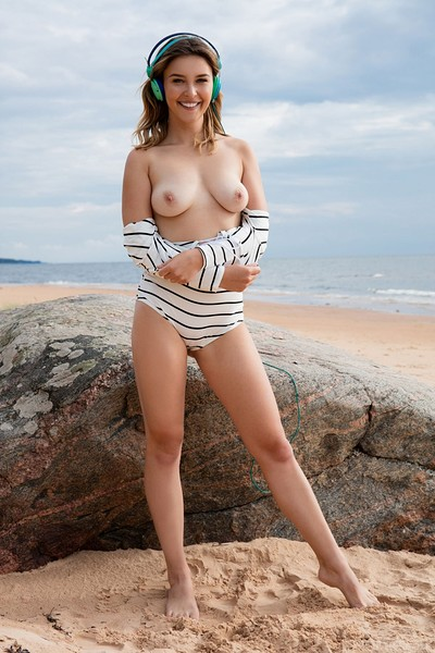 Dominika Jule in Beach Jams from Met Art