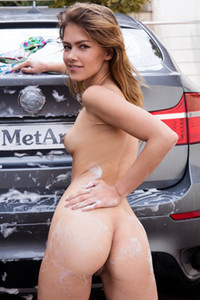 Laina in Sexy Car Wash from Met Art