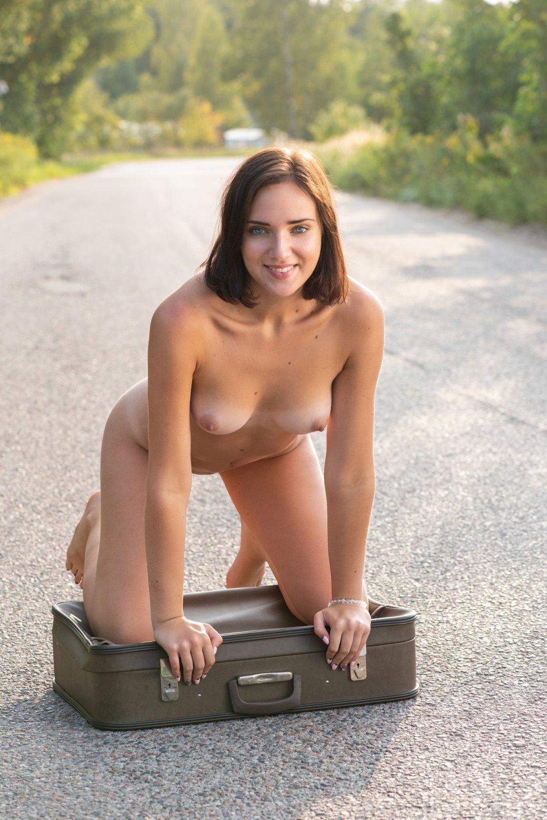 Nude asian female model