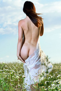 Gabriele in Lace In Nature from Met Art