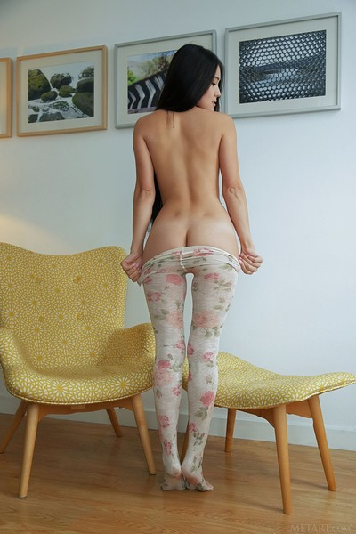 Kimiko in Topless and Tights from Met Art