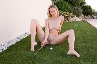 Agatha in Mini Golf from Met Art