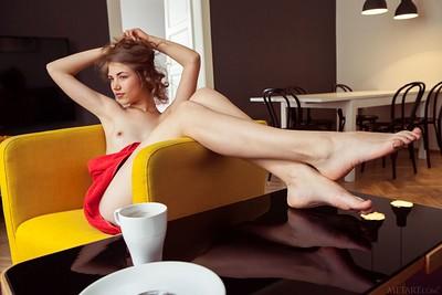 Jasmina in Yellow Chair from Met Art