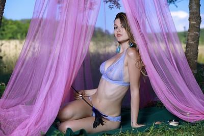 Stefania Beatty in Outdoor Canopy from Met Art