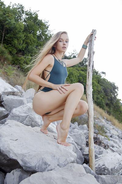 Milena D in Traveler from Met Art