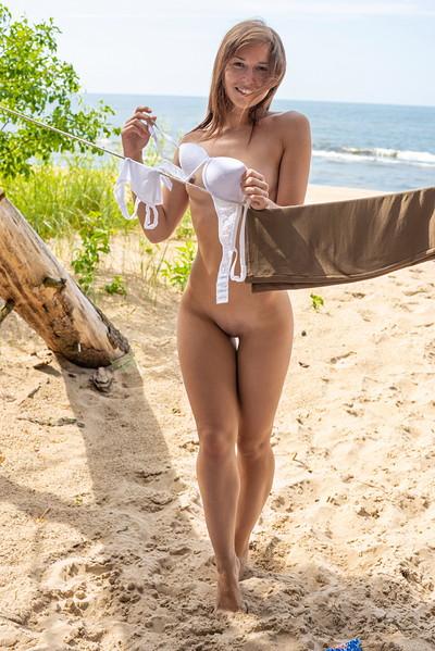 Mina in Beach Front from Met Art