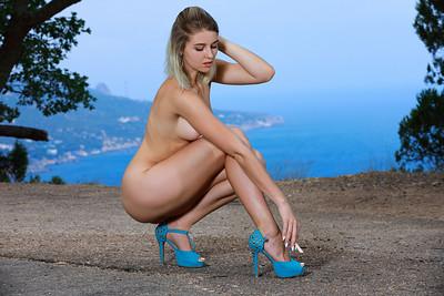 Libby in Blue Dress from Met Art