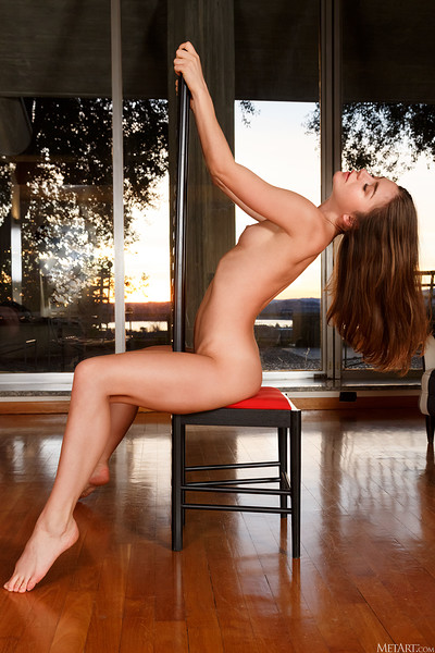 Lily C in High Backed from Met Art